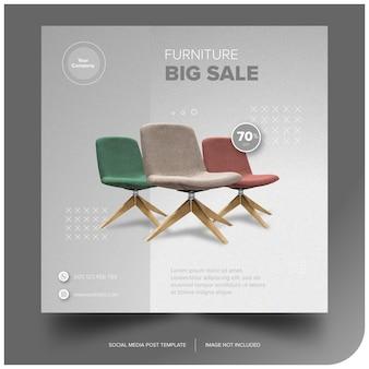 Download grátis de banner premium de mídia social do furniture