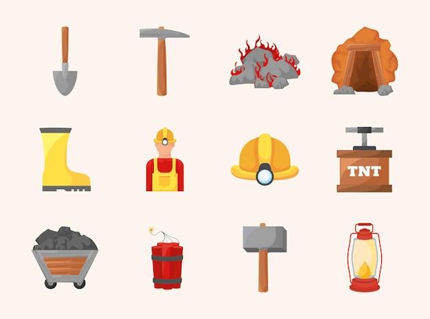 Doze itens de mineração