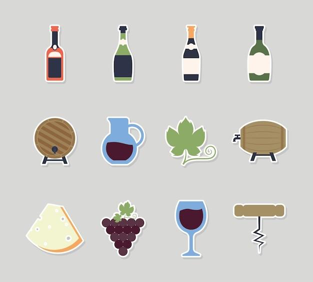 Doze itens de vinho