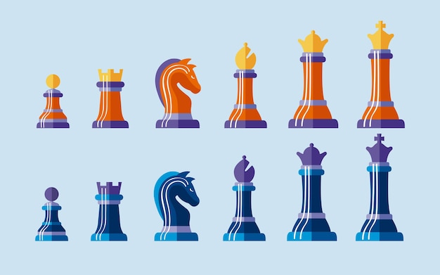 Doze peças de xadrez