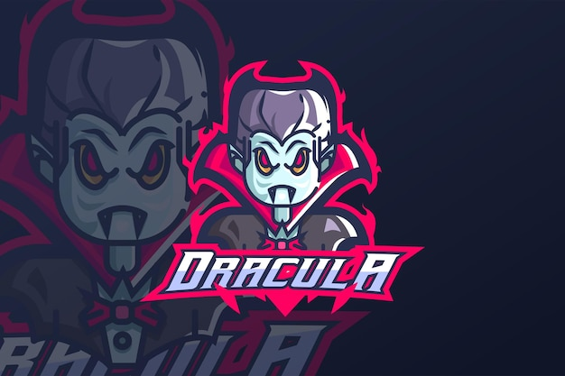 Drácula - modelo de logotipo esport