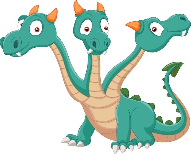 Dragão bonito de três cabeças