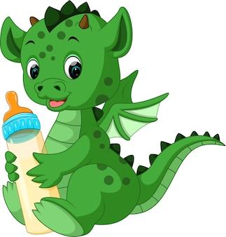 Dragão bonito dos desenhos animados