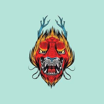 Dragão chinês. animal mitológico ou réptil tradicional asiático.