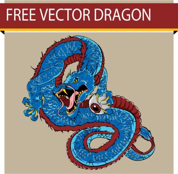 Dragão de vetor livre