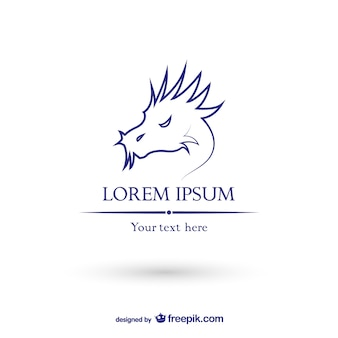 Dragão logotipo modelo vetor