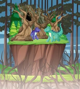 Dragão na floresta
