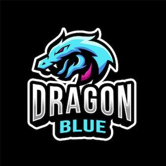 Dragon blue esport logotipo