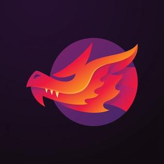 Dragon circle logo