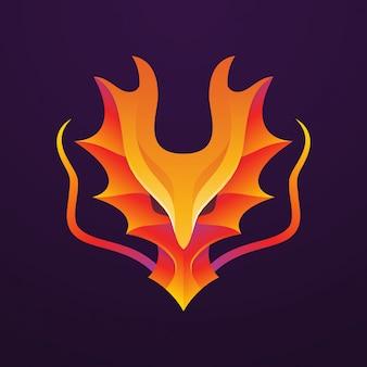 Dragon face logo