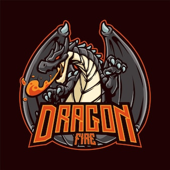Dragon mascot para esport e esportes