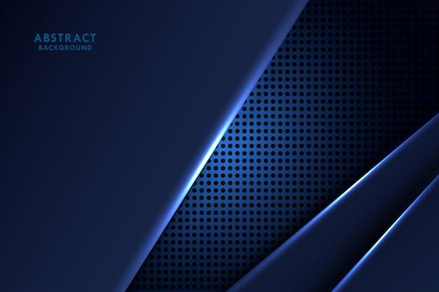 Drak abstrato azul com formas leves
