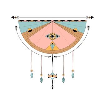 Dreamcatcher estilizado vetores no fundo
