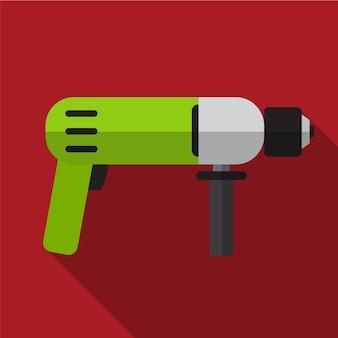 Drill flat icon ilustração isolado símbolo de sinal de vetor