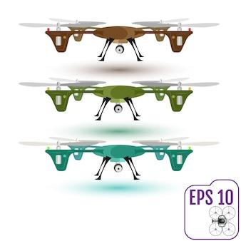 Drone aéreo remoto com uma câmera