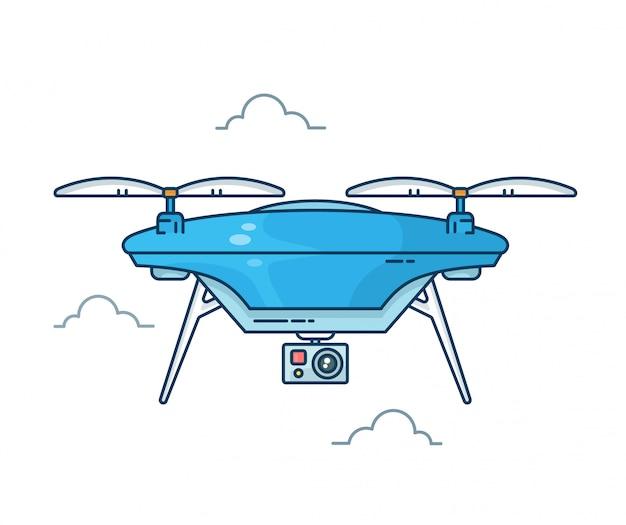 Drone com câmera de ação.