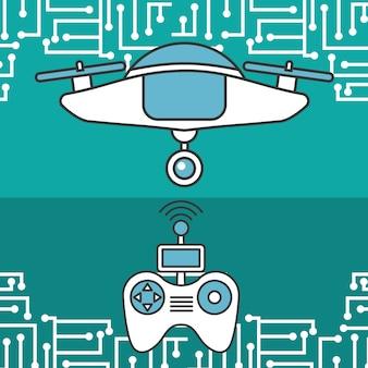 Drone controlador antena sinal conexão tecnologia