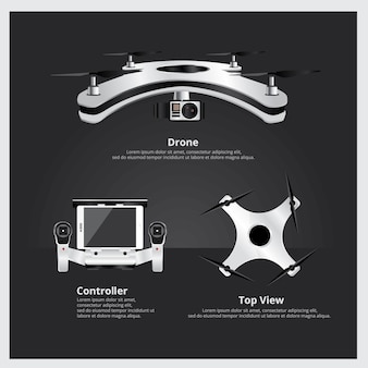 Drone front and top view