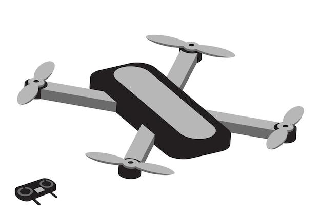 Drone ilustração quadcopter