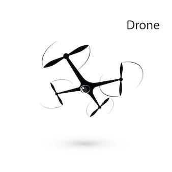 Drone. quadrocopter isolado