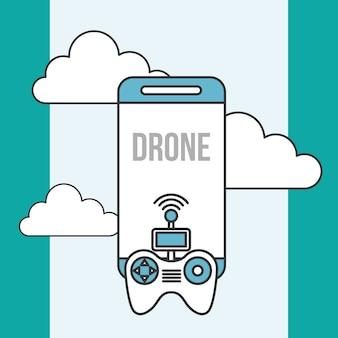 Drone tecnologia contoller smartphone digital