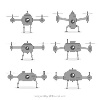 Drones clássicos com deisos planos