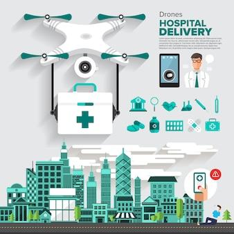 Drones de objeto de vetor