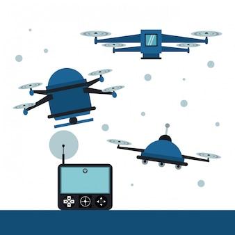 Drones e controle remoto