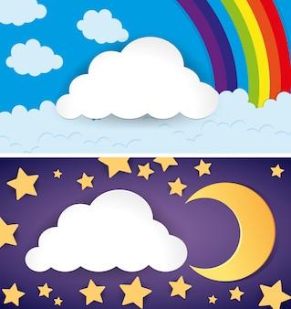 Duas cenas do dia e da noite