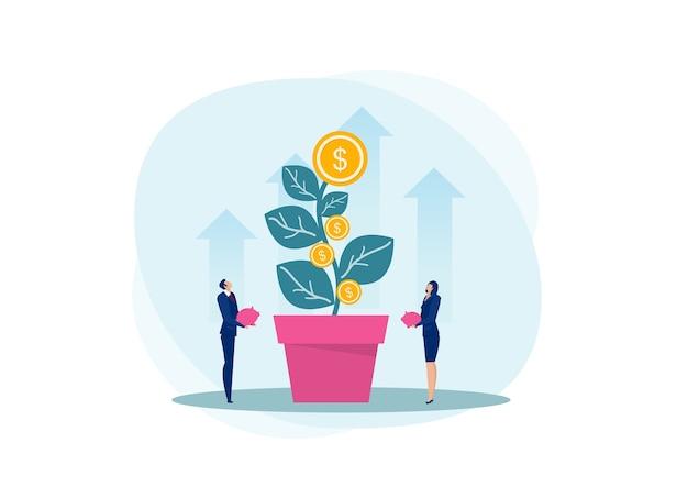 Duas empresas procurando lucro sombra para o futuro