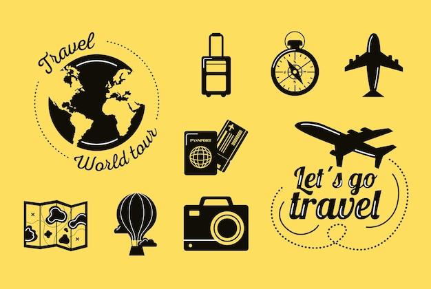 Duas inscrições de viagem