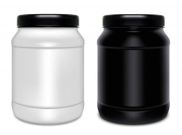 Duas latas de plástico