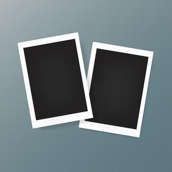 Duas molduras de fotos no fundo