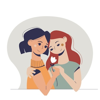 Duas mulheres apaixonadas.