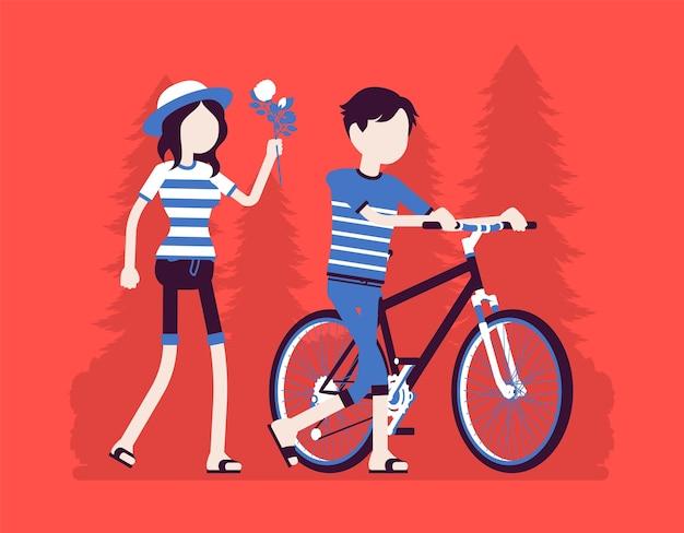 Duas pessoas em relacionamento no encontro