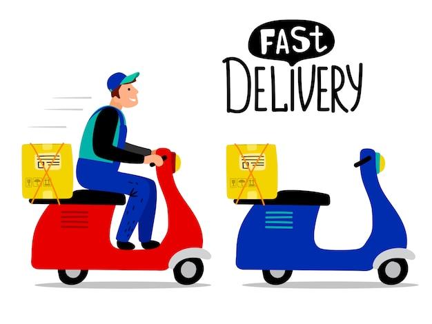 Duas scooters de entrega retrô
