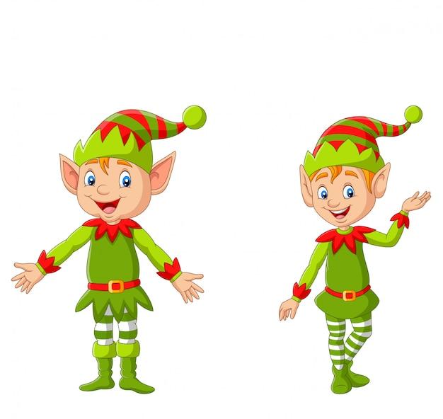 Duende de feliz natal dos desenhos animados