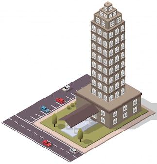 Duplex isométrico de apartamentos
