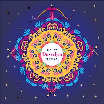 Dussehra feliz e design colorido