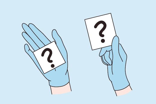 Dúvida, pergunta, sinal, conceito de situação incerta