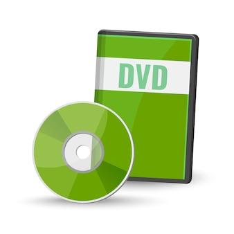 Dvd de vídeo digital e case para armazenamento