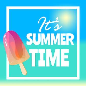 É a ilustração de horário de verão
