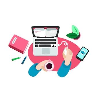 E-book em ilustração de computador