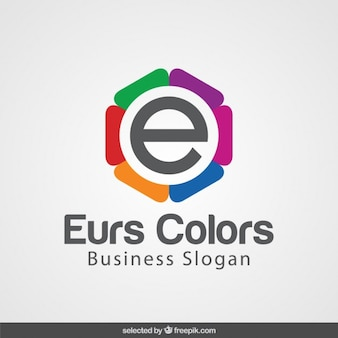 E com logotipo colorido