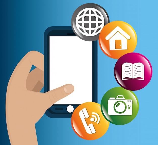 E-commerce e design de aplicativos móveis de mercado.