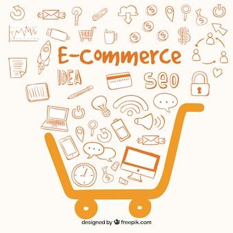 E-commerce orange background