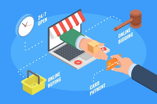 E-commerce pagamento de compras on-line de cartão de crédito