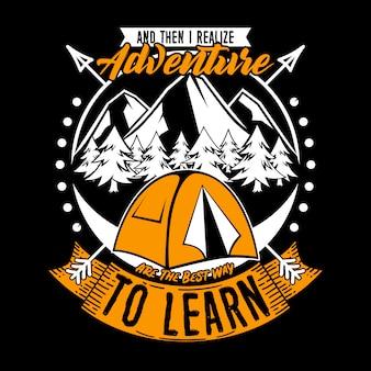 E então eu percebo aventura para aprender design