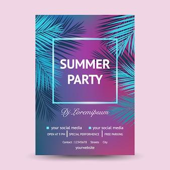 É festa de dj de verão