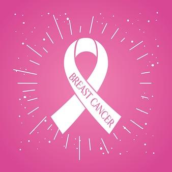E fita rosa, símbolo do mês mundial de conscientização do câncer de mama